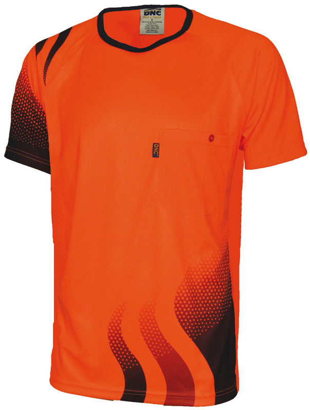 DNC Hi Vis Wave Sublimated T-shirt - Ace Workwear
