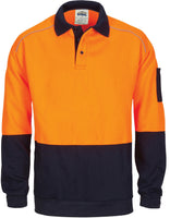 DNC Hi Vis Rugby Top Windcheater with Two Side Zipped Pockets (3727) - Ace Workwear