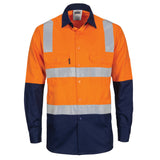 DNC Hi Vis Two Tone Cool-Breeze Cotton Shirt with Hoop & Shoulder CSR Reflective Tape (3747) - Ace Workwear