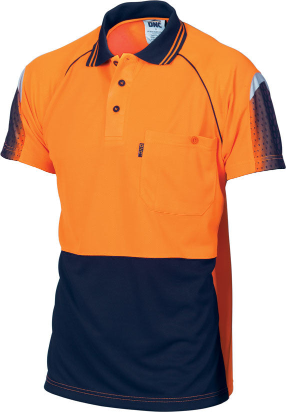 DNC Hi Vis Cool Breathe Sublimated Piping Polo Short Sleeve (3751) - Ace Workwear