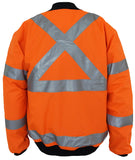 "DNC HiVis ""X"" back flying jacket Biomotion tape (3763) - Ace Workwear"