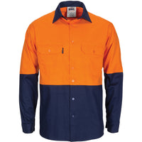 Hi Vis R/W Cool-Breeze T2 Vertical Vented Cotton Shirt with Gusset Sleeves (3781)