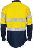 Hi Vis Cool-Breeze T2 Vertical Vented Cotton Shirt with Gusset Sleeves (3784) - Ace Workwear