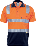 Hi Vis Two Tone Cotton Back Polo Shirt with Reflective Tape Short Sleeve (3817) - Ace Workwear