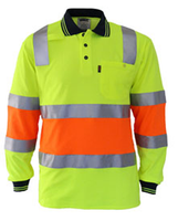 Hi Vis Cotton Back Biomotion Taped Polo (3819) - Ace Workwear
