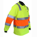 DNC Hi Vis Cotton Back Biomotion Taped Polo (3819) - Ace Workwear