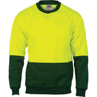 DNC HiVis Two Tone Fleecy Sweat Shirt (Sloppy Joe) Crew-Neck (3821) - Ace Workwear