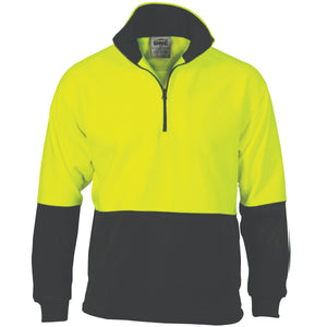 Hi Vis Two Tone 1/2 Zip Polar Fleece (3825)