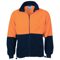 DNC Hi Vis Two Tone Full Zip Polar Fleece (3827) - Ace Workwear