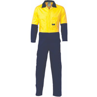 DNC Hi Vis Cotton Drill Coverall/Overall (3851) - Ace Workwear