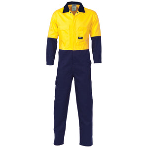Hi Vis Cool Breeze 2 Tone Light Weight Cotton Coverall (3852)