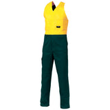 DNC Hi Vis Cotton Drill Action Back Coverall/Overall (3853) - Ace Workwear