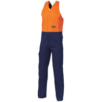 Hi Vis Cotton Drill Action Back Coverall/Overall (3853) - Ace Workwear