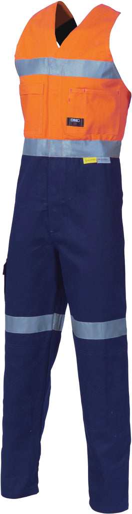 Hi Vis Cotton Action Back with Reflective Tape (3857) - Ace Workwear