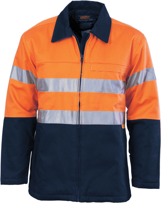DNC Hi Vis Cotton Drill Jacket with 3M Reflective Tape (3858) - Ace Workwear