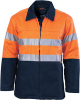 Hi Vis Cotton Drill Jacket with 3M Reflective Tape (3858) - Ace Workwear