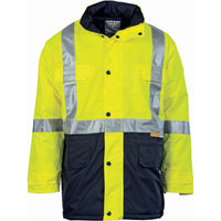 DNC HiVis Two Tone Quilted Jacket with 3M R/Tape (3863) - Ace Workwear