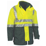 DNC Hi Vis Two Tone 4 in 1 Breathable Jacket with Vest and 3M Reflective Tape (3864) - Ace Workwear