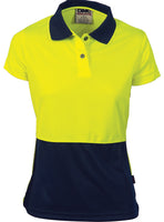 DNC Ladies HiVis Two Tone Polo - Short Sleeve (3897) - Ace Workwear