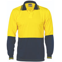 DNC Hi Vis Two Tone Food Industry Polo Long Sleeve (3904) - Ace Workwear
