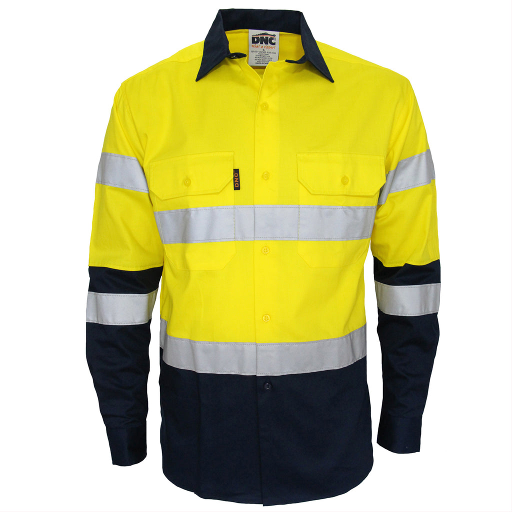 DNC Hi Vis 2 Tone Biomotion Taped Shirt (3976) - Ace Workwear