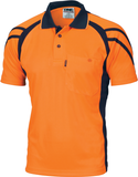 Hi Vis Cool Breathe Stripe Panel Polo Shirt Short Sleeve (3979) - Ace Workwear