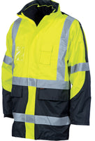 "DNC HiVis Cross Back 2 Tone D/N ""6 in 1"" Contrast Jacket (3998)"