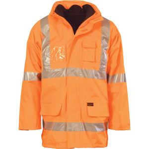 "DNC HiVis Cross Back D/N ""6 in 1"" jacket (3997) - Ace Workwear"