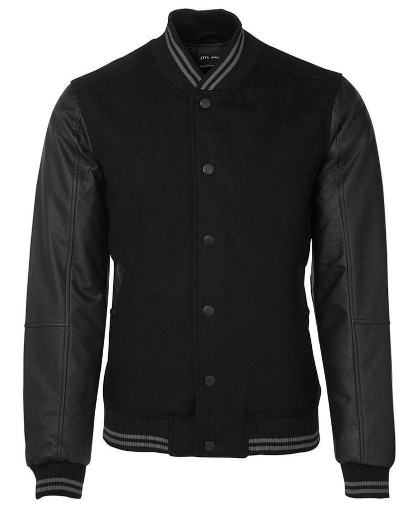 JB's Art Leather Baseball Jacket (3BLJ) - Ace Workwear