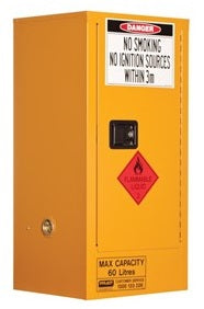 PRATT Flammable Storage Cabinet 60L 1 Door, 2 Shelf (5517AS)