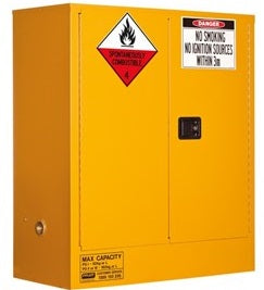 PRATT Class 4 Dangerous Goods Storage Cabinet 160L 2 Door,2 Shelf (5530AC4) - Ace Workwear