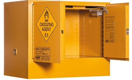 PRATT Oxidizing Agent Storage Cabinet 100L 2 Door, 1 Shelf (5535AOA) - Ace Workwear