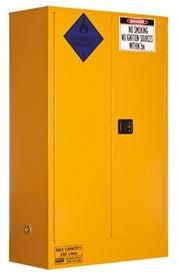 PRATT Class 4 Dangerous Goods Storage Cabinet 250L 2 Door,3 Shelf (5545AC4) - Ace Workwear