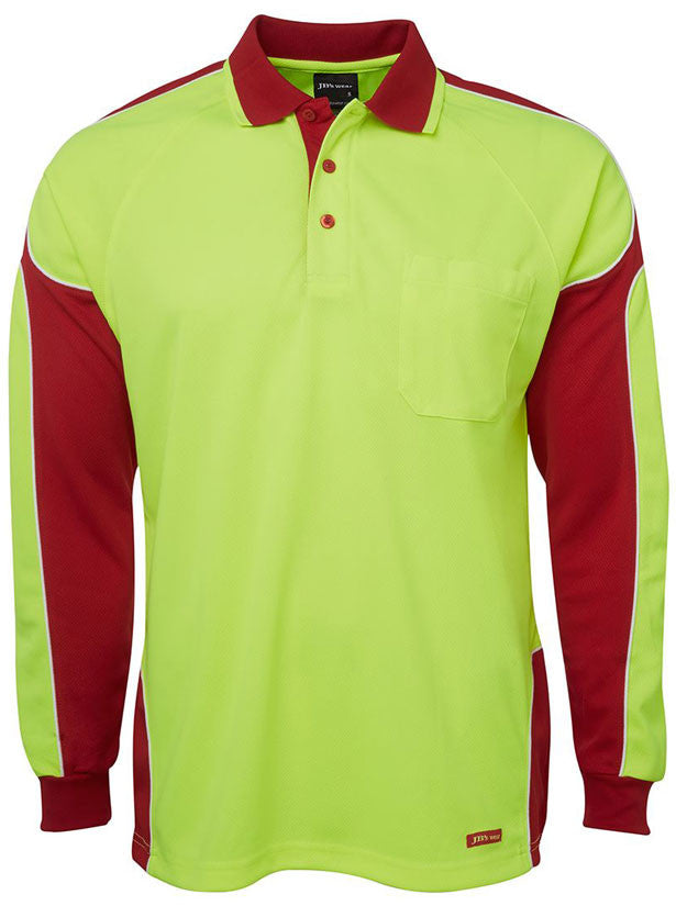 Hi Vis Arm Panel Polo Long Sleeve (6AP4L) - Ace Workwear