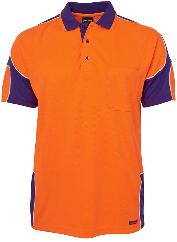 Hi Vis Arm Panel Polo Short Sleeve (6AP4S) - Ace Workwear