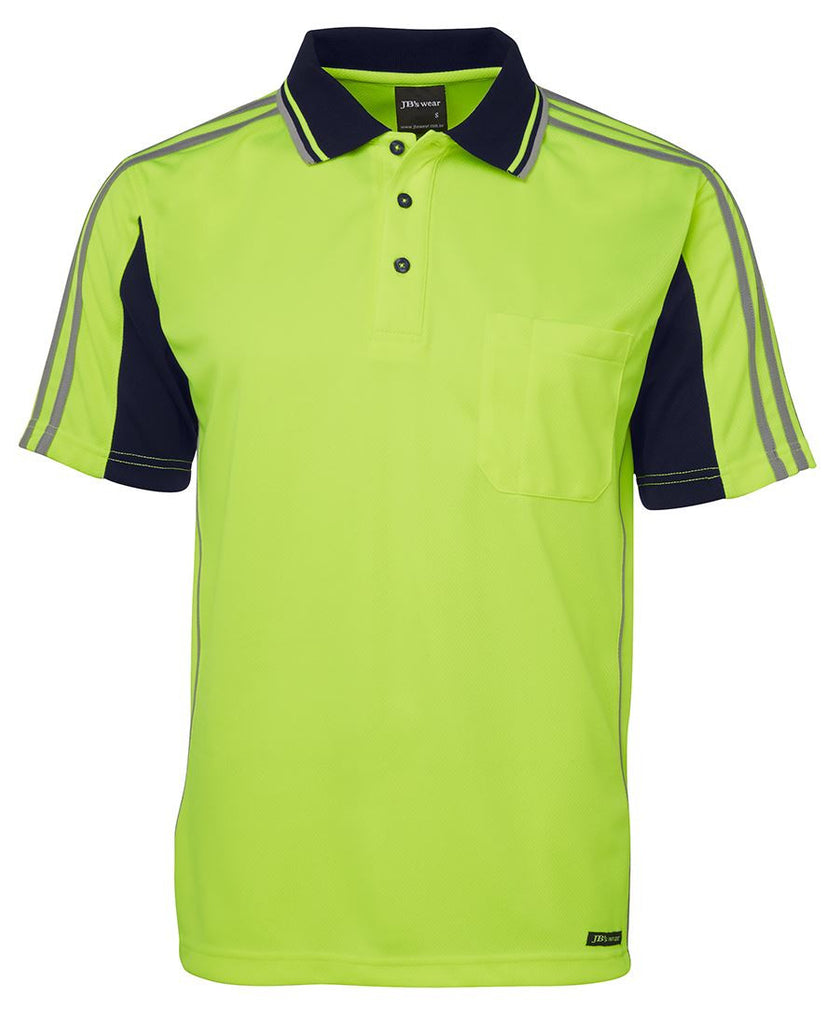 JB's Hi Vis Arm Tape Polo Short Sleeve (6AT4S) - Ace Workwear