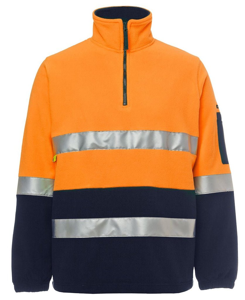 JB's Hi Vis (D+N) 1/2 Zip Polar Fleece (6DNPF) - Ace Workwear