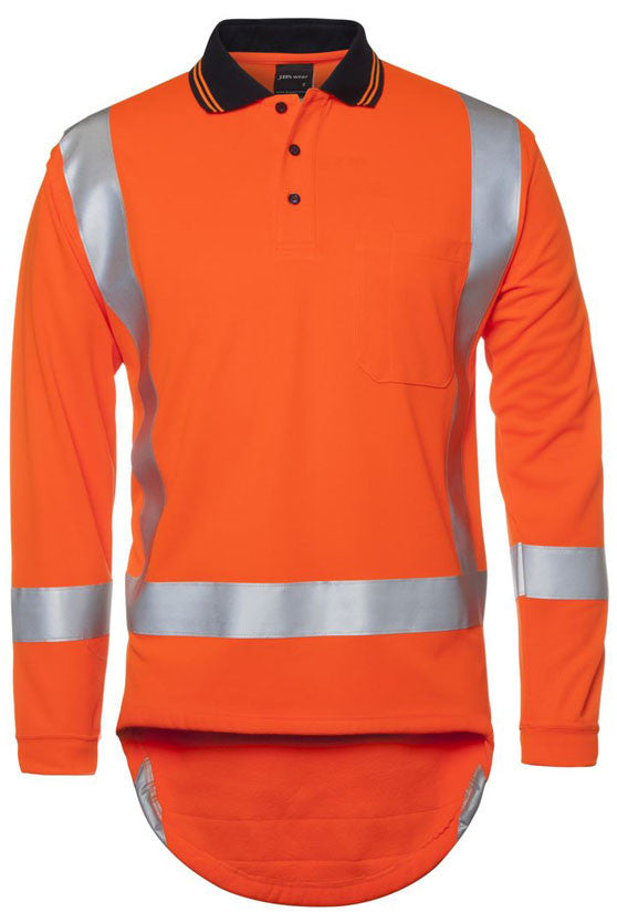 JB's Hi Vis Day/Night Non Cuff TTMC-W Long Sleeve Traditional Polo (6DTLP) - Ace Workwear