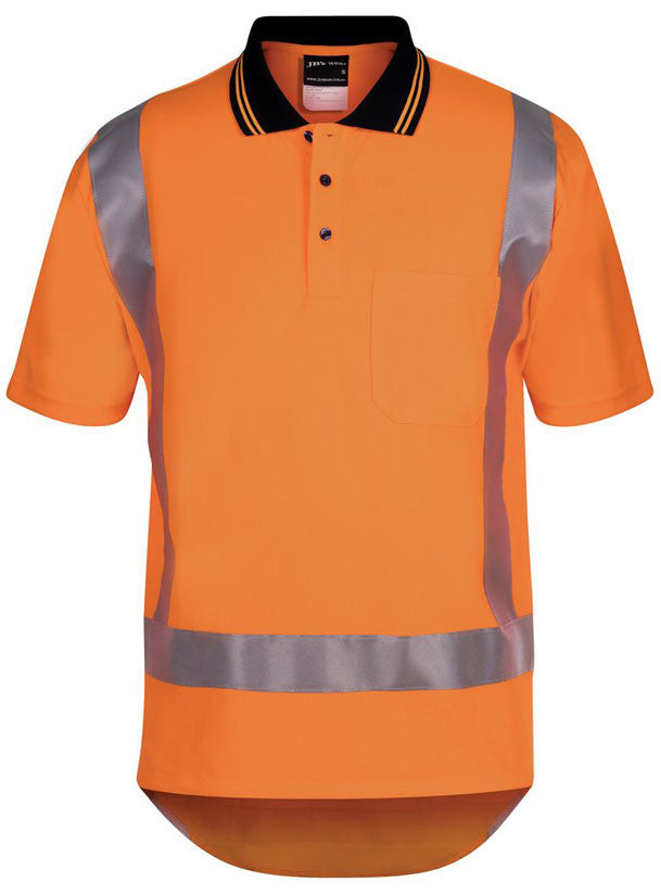 JB's Hi Vis Day/Night Non Cuff TTMC-W Short Sleeve Traditional Polo (6DTSP) - Ace Workwear