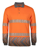 JB's Hi Vis Long Sleeve Arrow Sub Polo With Segmented Tape (6HAL) - Ace Workwear