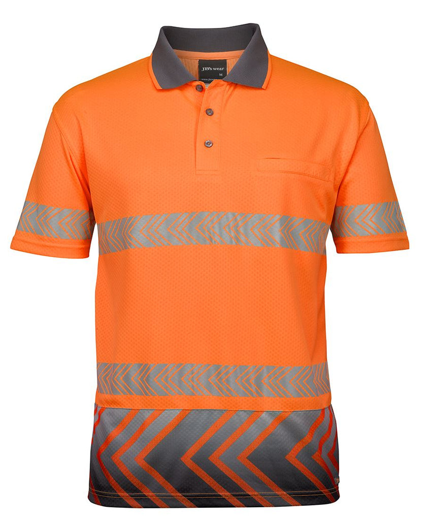 JB's Hi Vis Short Sleeve Arrow Sub Polo With Segmented Tape (6HAS) - Ace Workwear