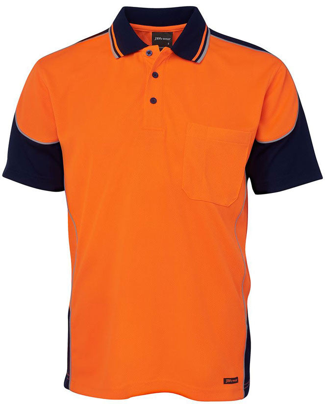 JB's Hi Vis Contrast Piping Polo Short Sleeve (6HCP4) - Ace Workwear