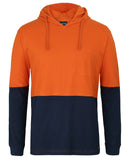 JB's Hi Vis L/S Cotton Tee with Hood (6HCTL) - Ace Workwear (4413143023750)