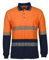 JB's Hi Vis Long Sleeve Segmented Tape Polo - Ace Workwear