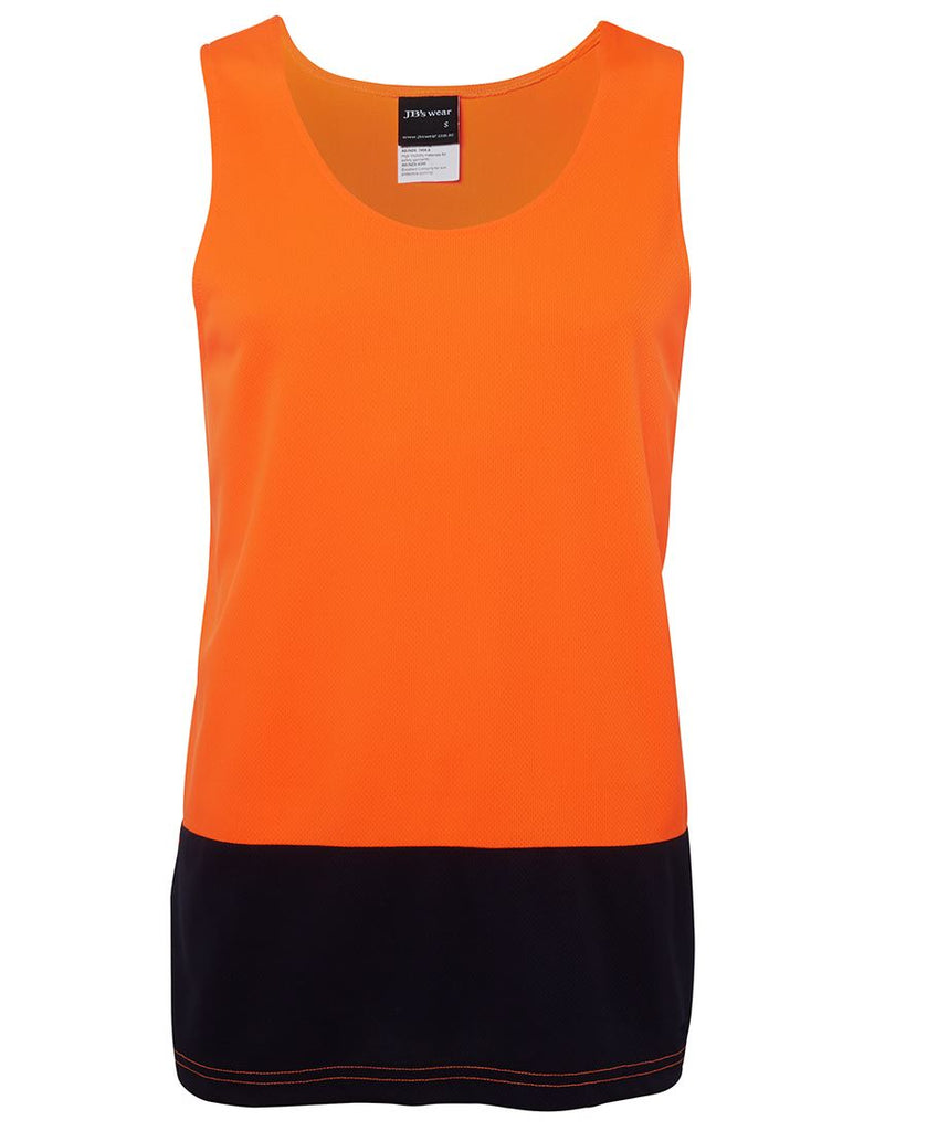 JB's Hi Vis Traditional Singlet (6HTS) - Ace Workwear