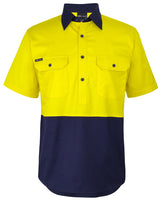 JB's Hi Vis Close Front S/S 150g Work Shirt (6HVCW)