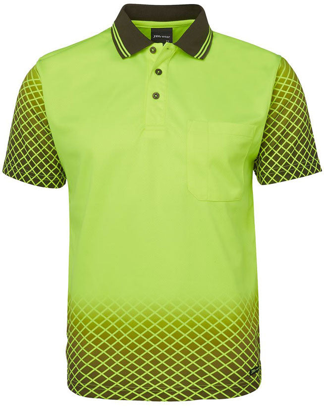 Hi Vis Net Sub Polo Short Sleeve (6HVNS) - Ace Workwear