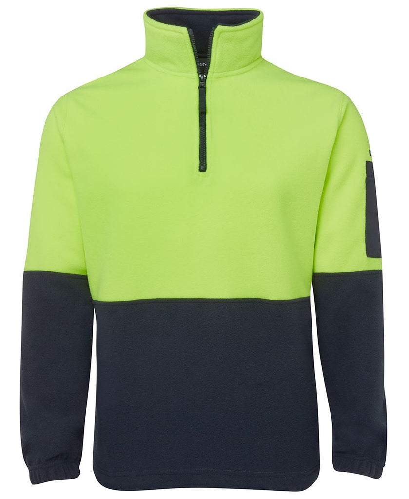 JB's Hi Vis 1/2 Zip Polar Fleece (6HVPF) - Ace Workwear