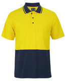 JB's Hi Vis S/S Cotton Pique Trad Polo (6HVQS) - Ace Workwear
