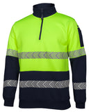 JB's Hi Vis ½ Zip Segmented Tape Fleece (6HZS) - Ace Workwear (1759124095020)
